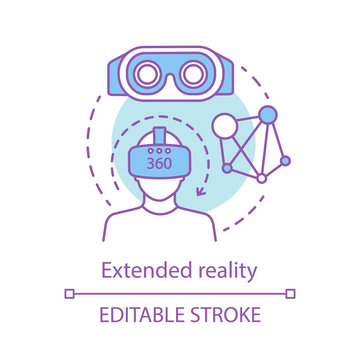 Extended reality concept icon