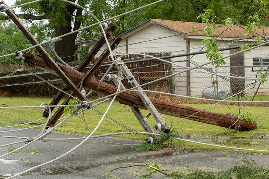Tornado damage debris spring storm