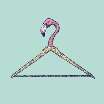 Flamingo Clothes Hanger