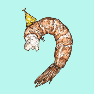Shrimp With A Party Hat