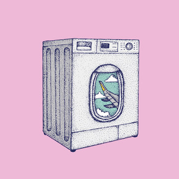 Airplane Window In A Washing Machine