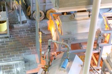 Glass work furnace