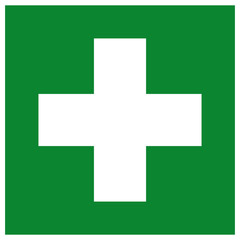 First Aid Station Symbol Sign, Vector Illustration, Isolated On White Background Label .EPS10