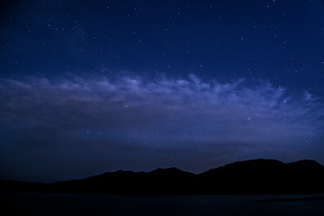 Night Sky from Hungry Horse Reservoir in Flathead National Forest in Montana