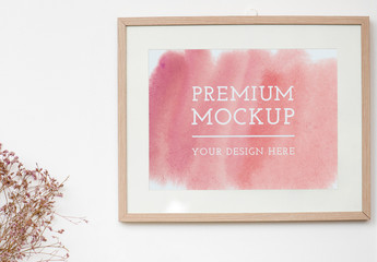 Frame Mockup on a White Wall