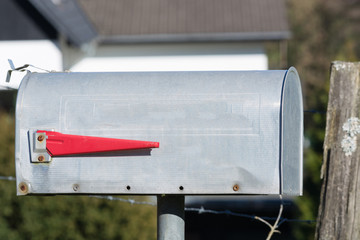 US post box on the street
