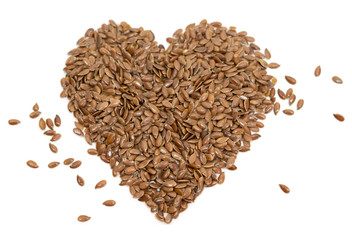Stock photo diet healthcare healthy food raw flax seeds linseed heart shaped