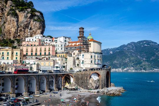 coast city amalfi italy