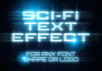Futuristic Sci-Fi Text Effect