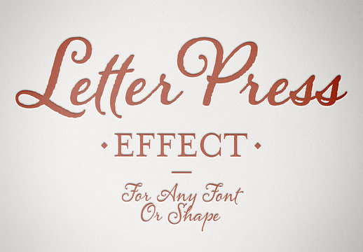 Embossed Red Text Effect