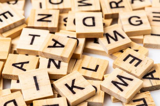 Heap Assorted Uppercase Scrabble Letter Tiles