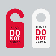 Do not disturb door hanger signs isolated message for peace.