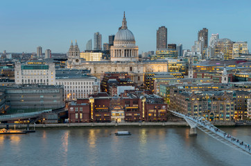 UK, England, London, St Pauls Millenium Br from Tate Switch
