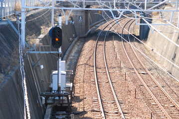 Foto auf AluDibond Eisenbahnschienen 線路