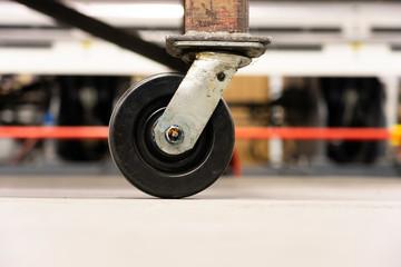 Castor - Caster wheels on factory workshop floor