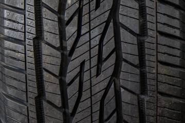 New tire texture black car rubber