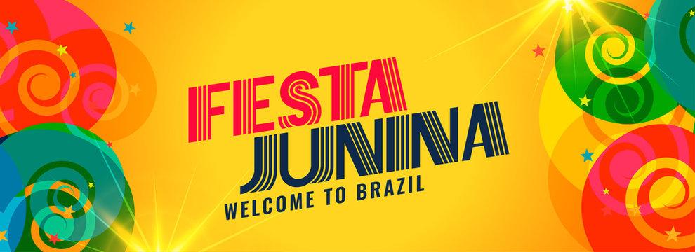 festa junina brazil holiday banner design