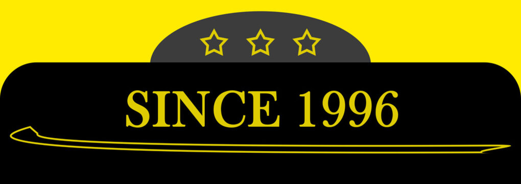 Since 1996 sign logo emblem symbol