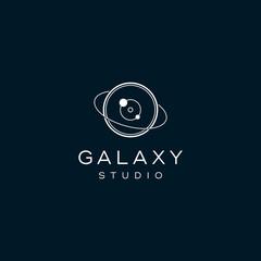 galaxy photography concept vector logo design