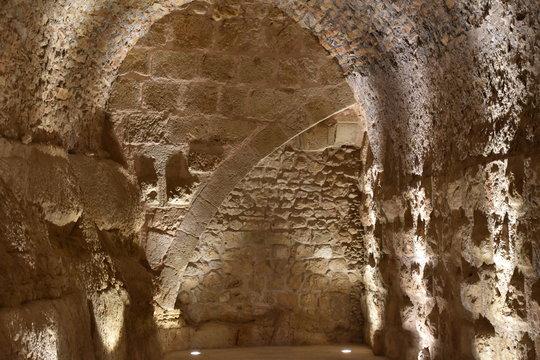 Interior Byzantine Arch Detail, Ajloun Castle, Jordan