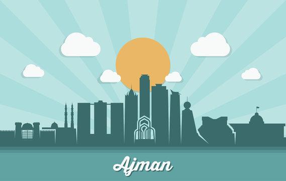 Ajman skyline - UAE - United Arab Emirates
