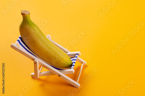 Magnificent Minimal Vacation Concept A Banana Lies In A Lounge Chair Beatyapartments Chair Design Images Beatyapartmentscom