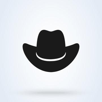 Cowboy hat icon isolated on white background. illustration