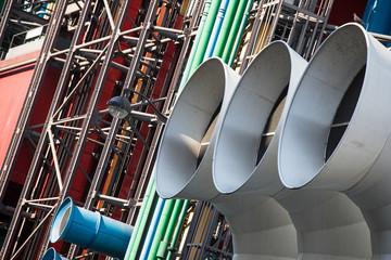 Paris - Centre Georges Pompidou: moderne Architektur