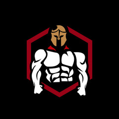 spartan logo for gaming mascot or e sports team twitch