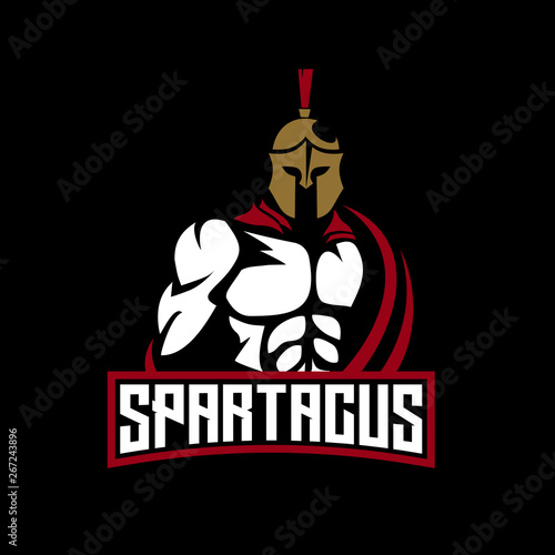 spartan e sports logo for gaming mascot or twitch