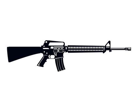 Military Style M16 Assault Rifle Machine Gun