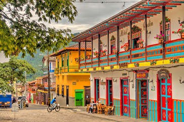 Wall Mural - Jardin, picturesque town in Antioquia, Colombia