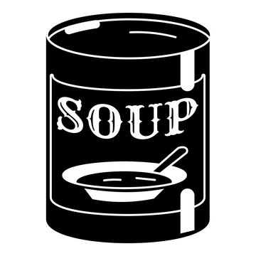 Soup tin can icon. Simple illustration of soup tin can vector icon for web design isolated on white background