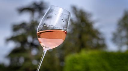 Foto auf Leinwand Alkohol Verre de vin rosé