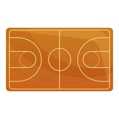 Basketball field icon. Cartoon of basketball field vector icon for web design isolated on white background