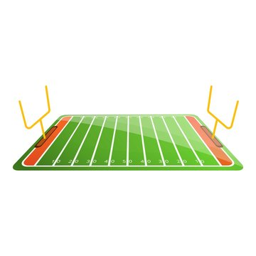 American football field icon. Cartoon of american football field vector icon for web design isolated on white background