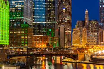 Wall Mural - Chicago Skylines Wolf Point