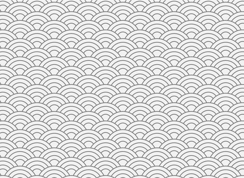 vector background of white japanese wave pattern