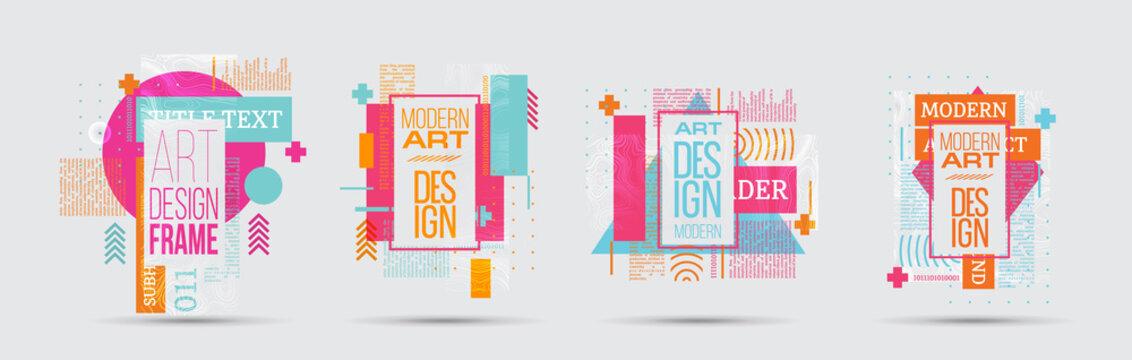 vector illustration. A minimalistic hipster colored frame design.