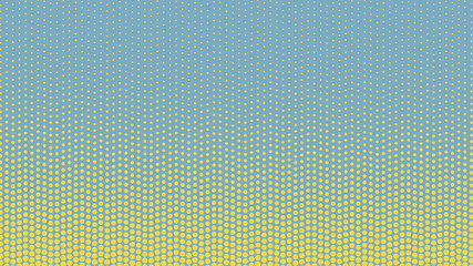 Yellow and blue pop art background in retro comic style