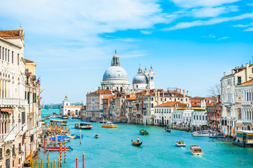 Photo sur Aluminium Venise Grand Canal and Basilica Santa Maria della Salute in Venice, Italy