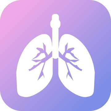 Lungs Glyph icon with gradient background