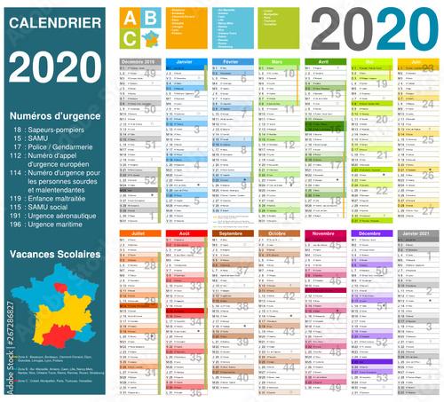 Calendrier 2020 Et 2020 Avec Vacances Scolaires.Calendrier 2020 Vacances Scolaire Calendrier 2020 2019 10 16