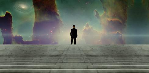 Fototapete - Man in black suit