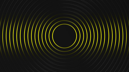 Wall Mural - grey and yellow circles modern background illustration, 3d render