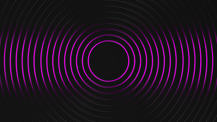 Wall Mural - grey and purple circles modern background illustration, 3d render