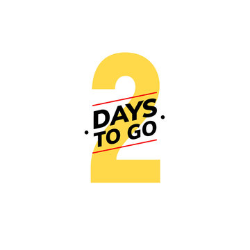 2 days to go last countdown icon. Two day go sale price offer promo deal timer, 2 day only