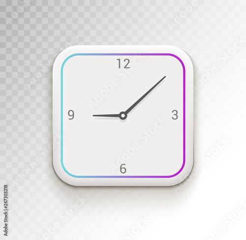 Clock ui vector phone app or widget  Digital clock ui time