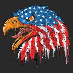 EAGLE INDEPENDENCE USA FLAG AMERICA VECTOR
