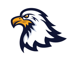 Bald eagle mascot vector illustration